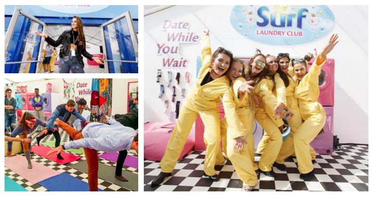Festival laundry service brand activation